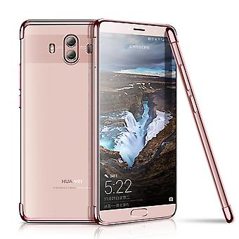 Cell phone cover case for Huawei mate 10 transparent transparent rose pink