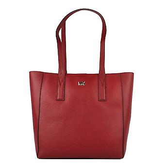 MICHAEL by Michael Kors Junie Medium Maroon Leather Tote