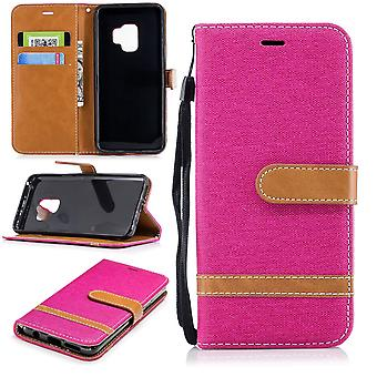 Samsung Galaxy S9 mobile phone case protective bag case cover card cover case pink