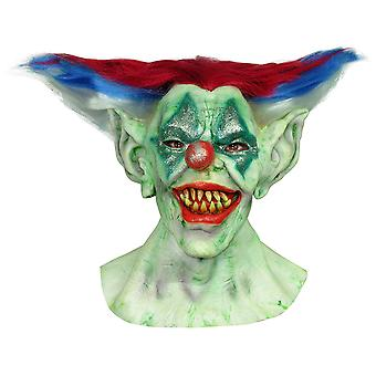 Outta Control Clown Horror Joker Sinister Creepy Mens Costume Overhead Mask Hair