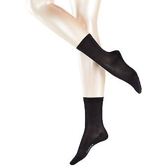Falke Sensual calcetines de seda Midcalf - negro