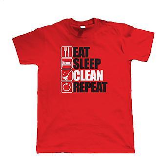 Spise søvn ren gjenta, T skjorte