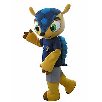 mascot SPOTSOUND of Fuleco, famous Armadillo of the 2014 World Cup