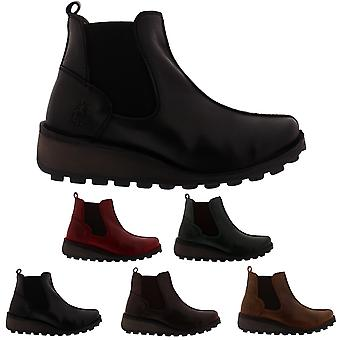Womens Fly London Mebe Leather Snow Winter Fashion Wedge Heel Ankle Boot