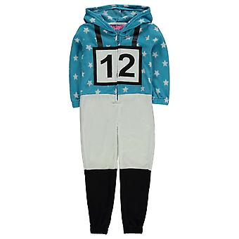 Jockey Kids Girls Onesie Child Pyjama Set Hooded Zip Elasticated Cuffs