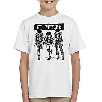 Ingen fremtidige Punk astronautene Kids t-skjorte