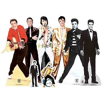 Elvis Table Top Cardboard Cutouts Party Pack of 8