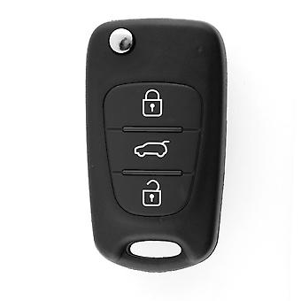 Vervanging Folding Remote Keyless Entry Key CASE Shell 3 KNOPPEN Voor KIA SORENTO SPORTAGE CERATO RIO Ongesneden Blade  JETTING