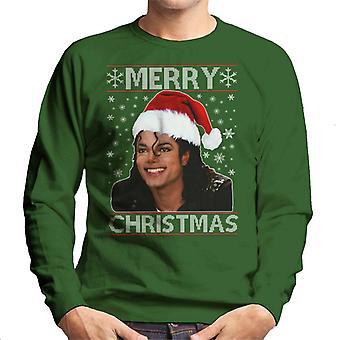 Michael Jackson Merry Christmas Men's Sweatshirt