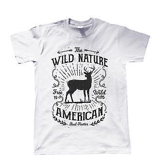 Wild Nature American Hunter, Mens T Shirt