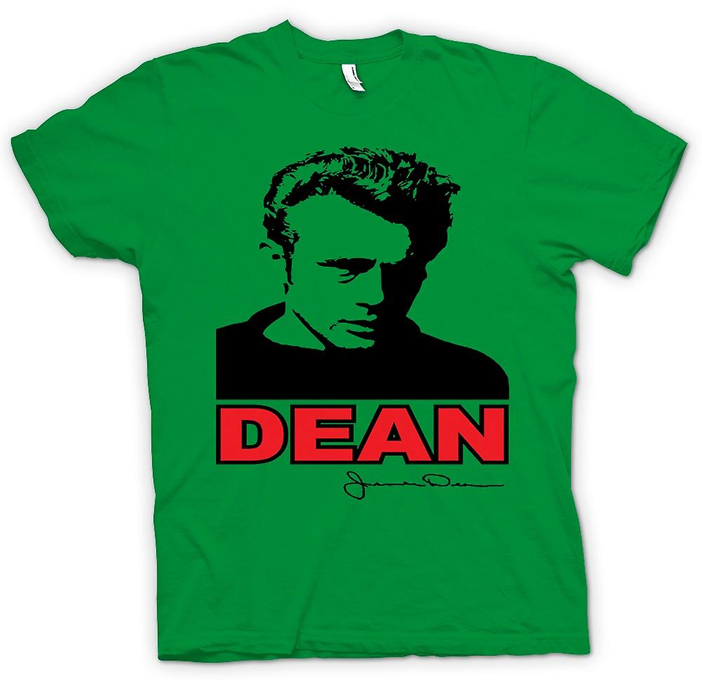 Heren T-shirt - James Dean popart - filmpictogram