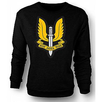 Mens Sweatshirt Sas Who Dares Wins Badge - War