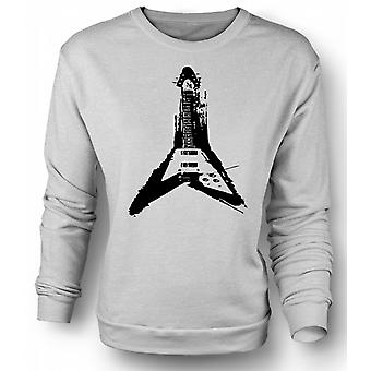Mens Sweatshirt Gibson Flying V Guitar - Rock Metal