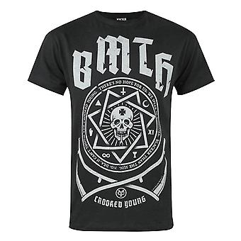 Amplified Bring Me The Horizon Crooked Young Men's T-Shirt Charcoal