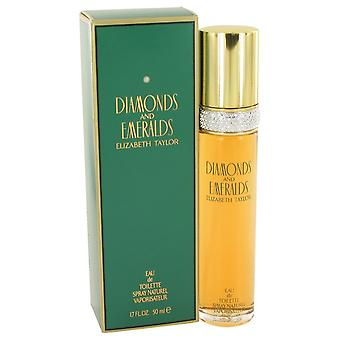 DIAMANTER & EMERALDS av Elizabeth Taylor Eau De Toilette Spray 1,7 oz/50 ml (kvinner)