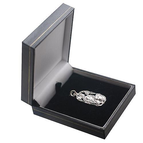 Silver 33x17mm Taurus Zodiac Pendant