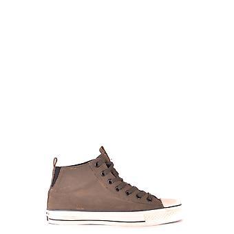 Converse Brown Fabric Hi Top Sneakers