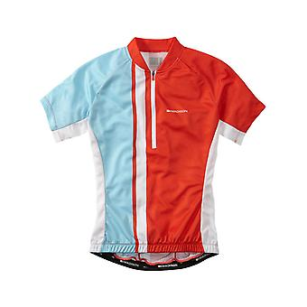 Madison Chilli Red-Sea Blue 2016 Tour Womens Short Sleeved Cycling Jersey