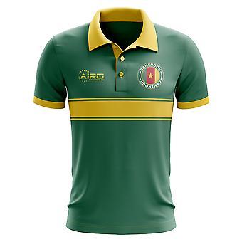 Kamerun koncepcja koszula Polo z paskiem (zielony)