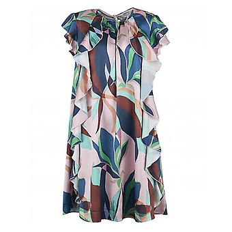 Ted Baker Supernatural Print Ruffle Shift Dress