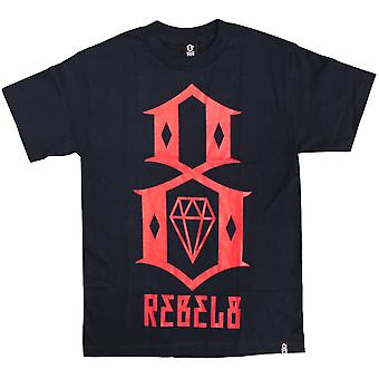 REBEL8 LOGO Men's T-shirt Navy/Red