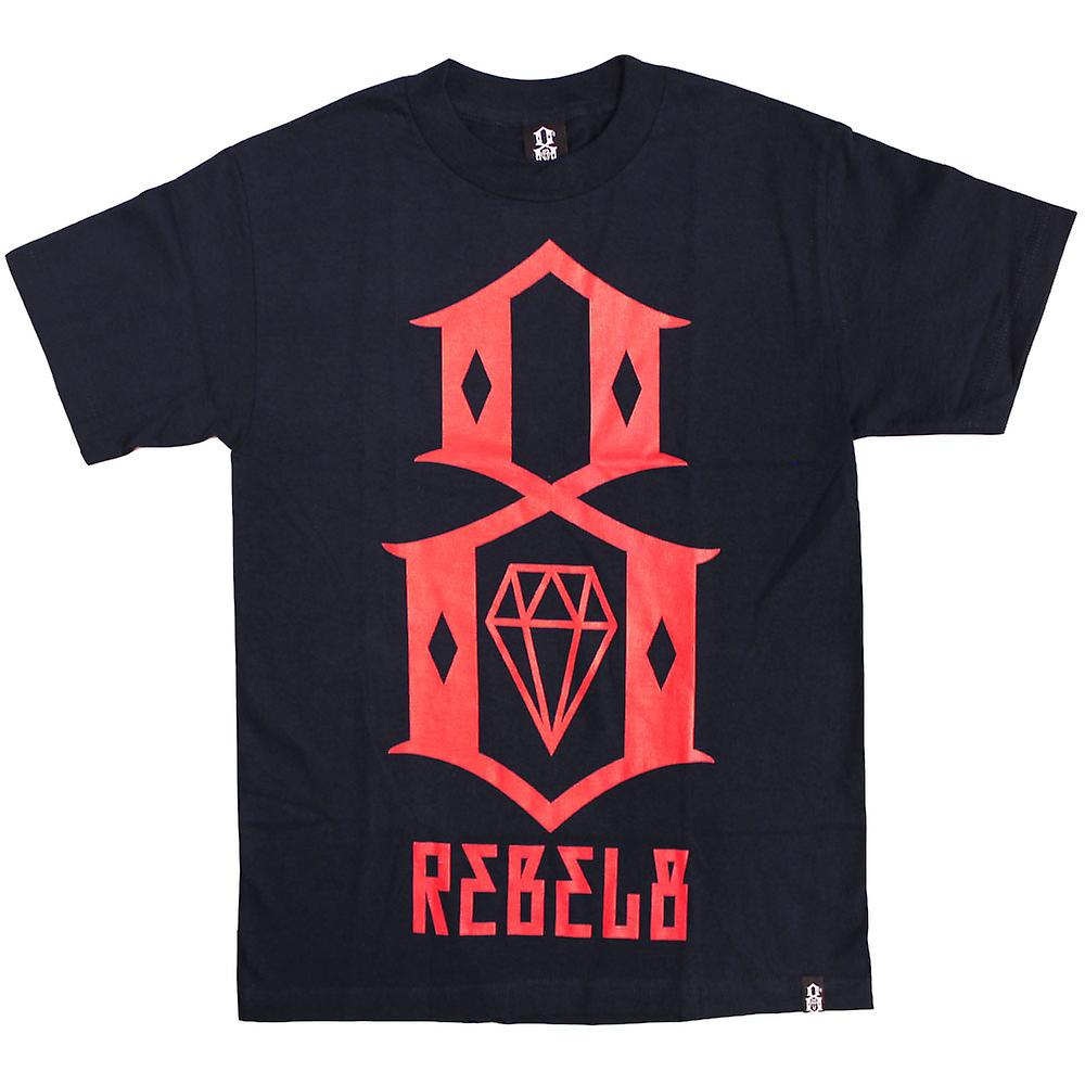 Rebel8 Logo T-shirt Navy Red