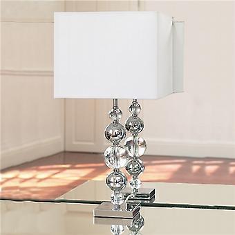 Endon GRECO SILVANER Table Lamp Single Fabric Shade