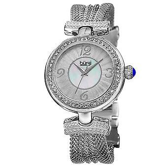 Cristallo di Burgi Donna accentati quarzo svizzero WatchBUR110SS