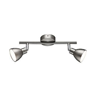 Wofi Lester - LED 2 Light Spotlight Matt Nickel, Chrome - 725102540000