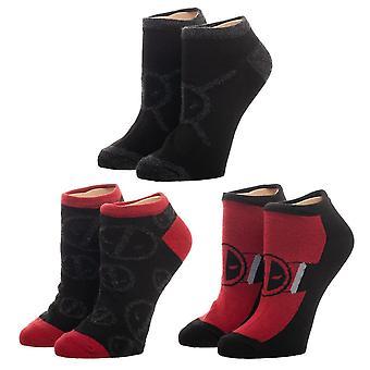 Ankle Socks - Deadpool - 3 Pack New Licensed xs6q7wmvu