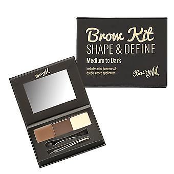 Barry M Brow Kit - Medium/Dark