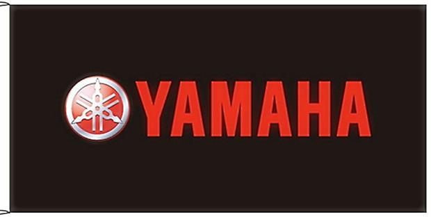 Large Yamaha flag (black lscape) 1500mm x 900mm   (of)