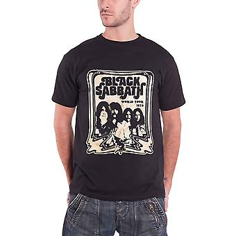 Black Sabbath World Tour 78 Group Shot Official Mens New Black T Shirt