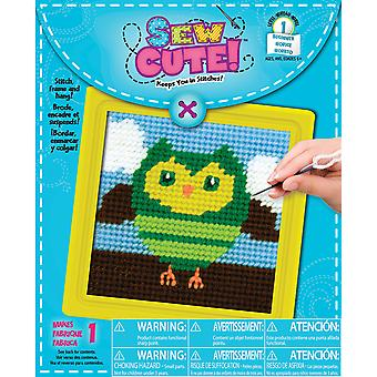 Owl Learn To Sew Needlepoint Kit-6