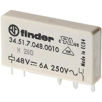 PCB relays 60 Vdc 6 A 1 change-over Finder 34.51.7.060.5010 1 pc(s)