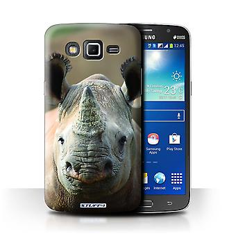 STUFF4 Case/Cover for Samsung Galaxy Grand 2/G7102/Rhino/Wildlife Animals