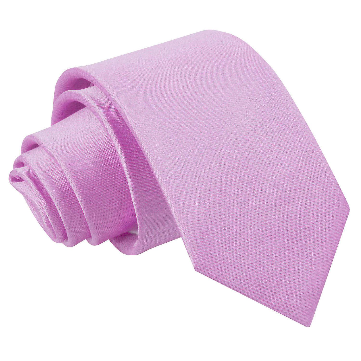 Boy's Lilac Plain Satin Tie  (8+ years)