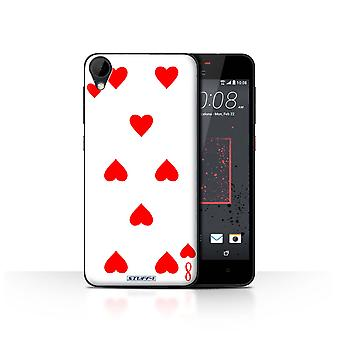 STUFF4 Case/Cover for HTC Desire 825/8 of Hearts/Playing Cards