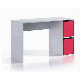 Bricohabitat Ipink Desk With Doors Gloss White / Magenta 120x73x50 cm