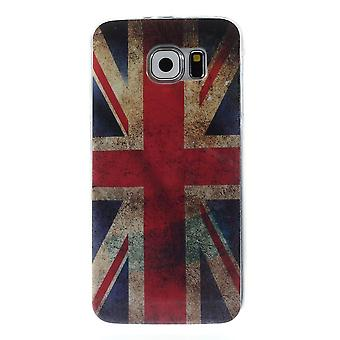 UK flag TPU rubber cover for Samsung Galaxy S6