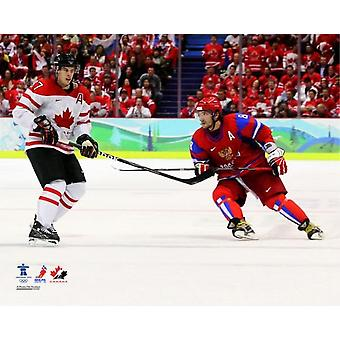 Alexander Ovechkin & Sidney Crosby 2010 Winter Olympics Action Photo Print