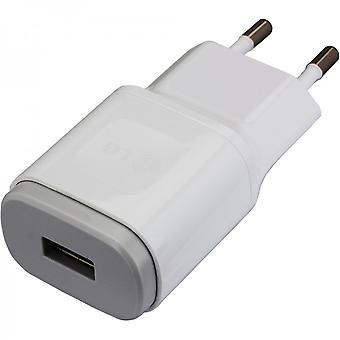 LG travel charger USB power adapter 1800mAh MCS 04ED without data cable - white