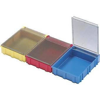 SMD box Red Lid colour: Transparent 1 pc(s) (L x W x H) 180 x 68 x 15 mm Licefa N52361