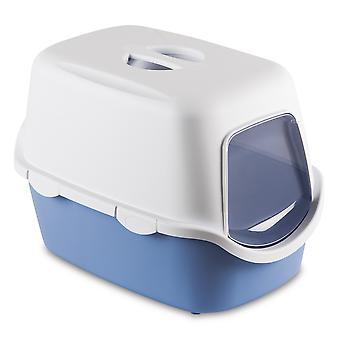 Cathy hætteklædte kat Toilet blå med Filter 56x40x40cm