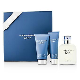 Dolce & Gabbana Homme Light Blue Coffret: EDT Spray 125ml/4.2oz + After Shave Balm 75ml/2.5oz + Shower Gel 50ml/1.6o 3pcs