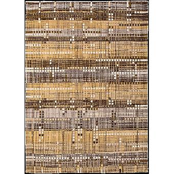 Office Gold Distressed Flatweave Rug - Louis De Poortere