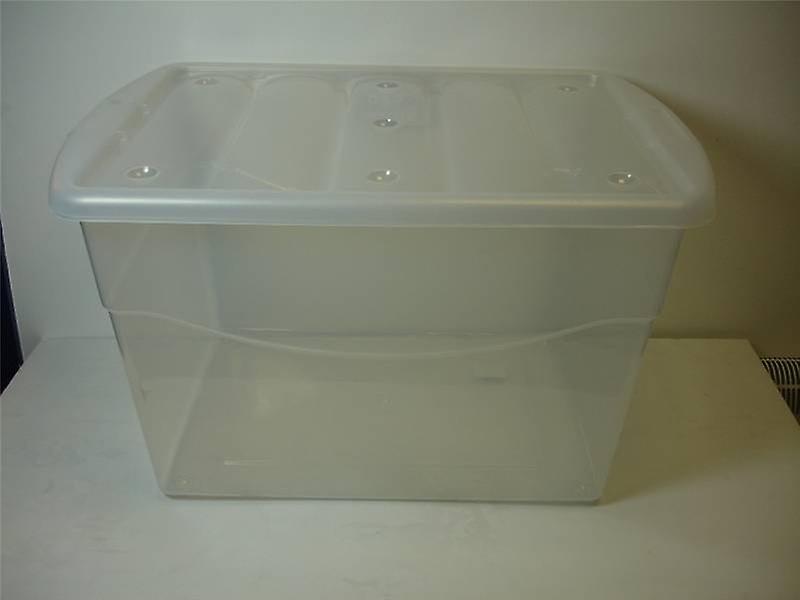 40ltr Eco Base caja de almacenaje transparente