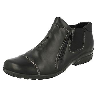 Ladies Rieker Double Zip Ankle Boots L4652