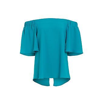 Love2dress parti des femmes élastiquée haut Bardot bleu taille UK 8