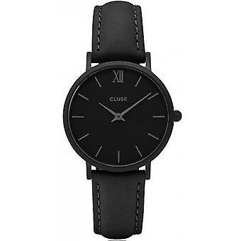 Watch Cluse midnight CL30008 - shows plated leather woman